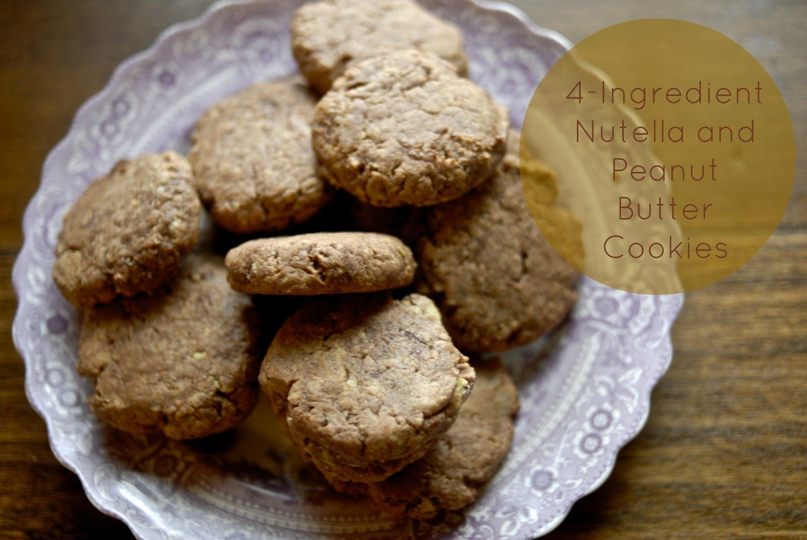 Home for Hire: 4-Ingredient Nutella and Peanut Butter Cookies