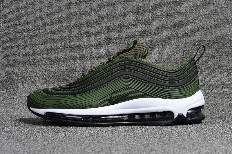 promo code ab89e 7466e 2018 New Nike Air Max 97 Jungle Green Black White