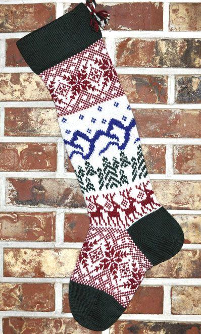 Scandinavian Knit Christmas Stocking   Knitted christmas ...