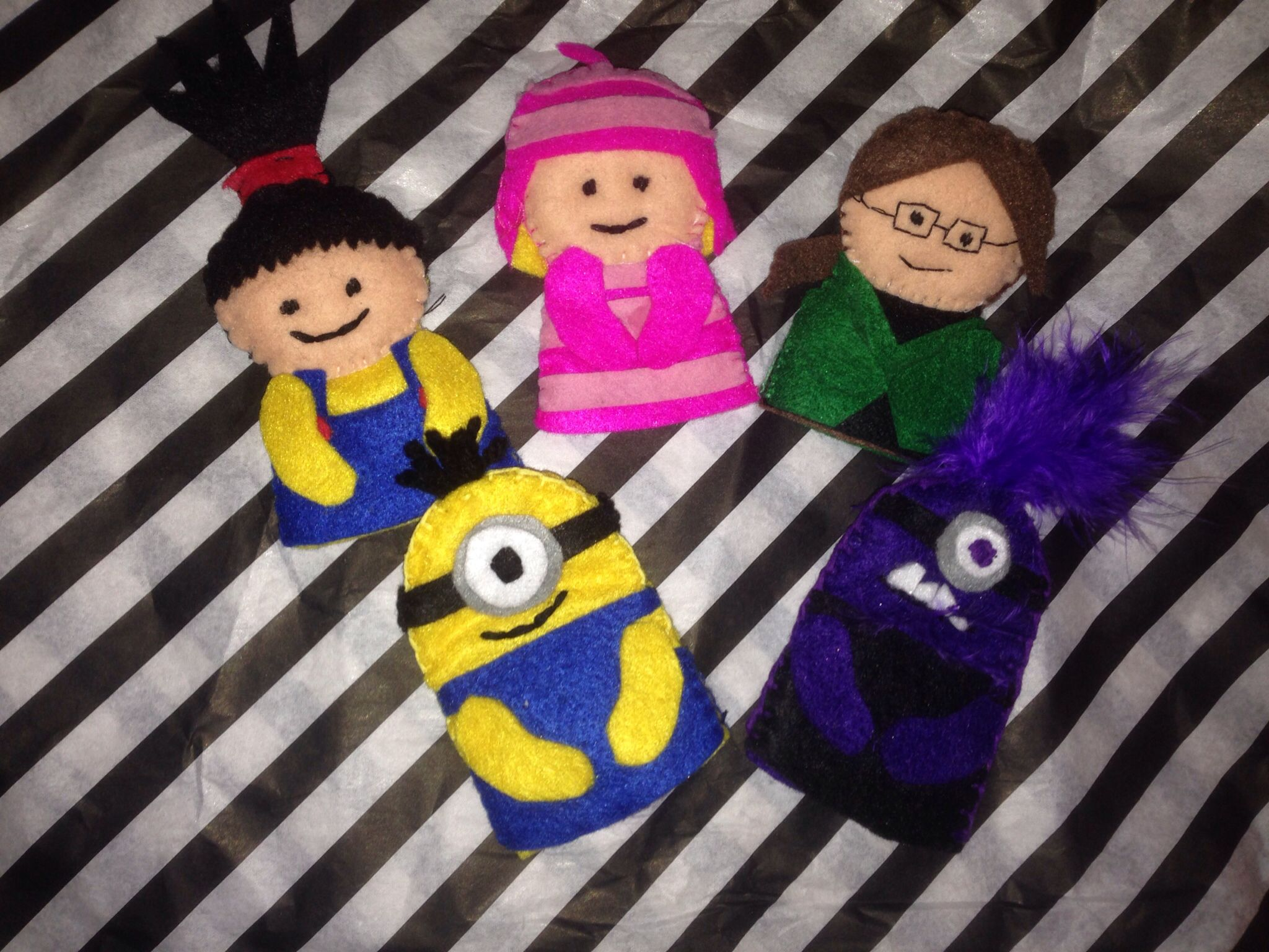 Toys and me images  Despicable Me  Edith Margo and Agnes minion and evil minion felt