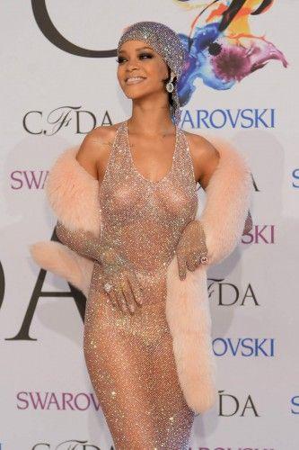 Through dress see awards rihanna fashion cfda