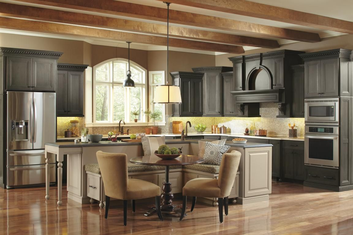 Weure swooning over this gorgeous kitchen by omega the rich detail