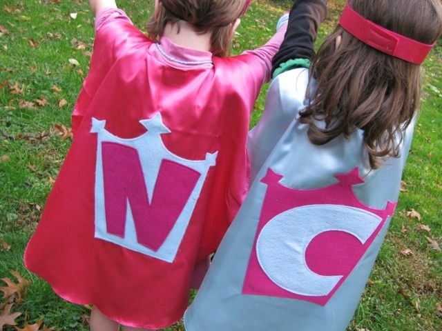 2 Superhero Costume Kid Capes Custom cape Personalized by