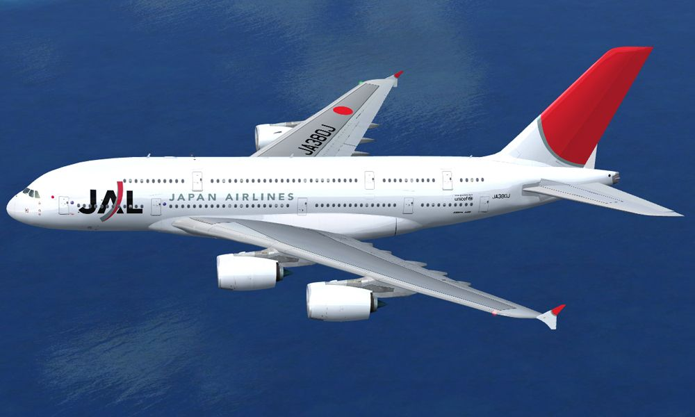 japan airlines livery on a380 airline liveries n logos