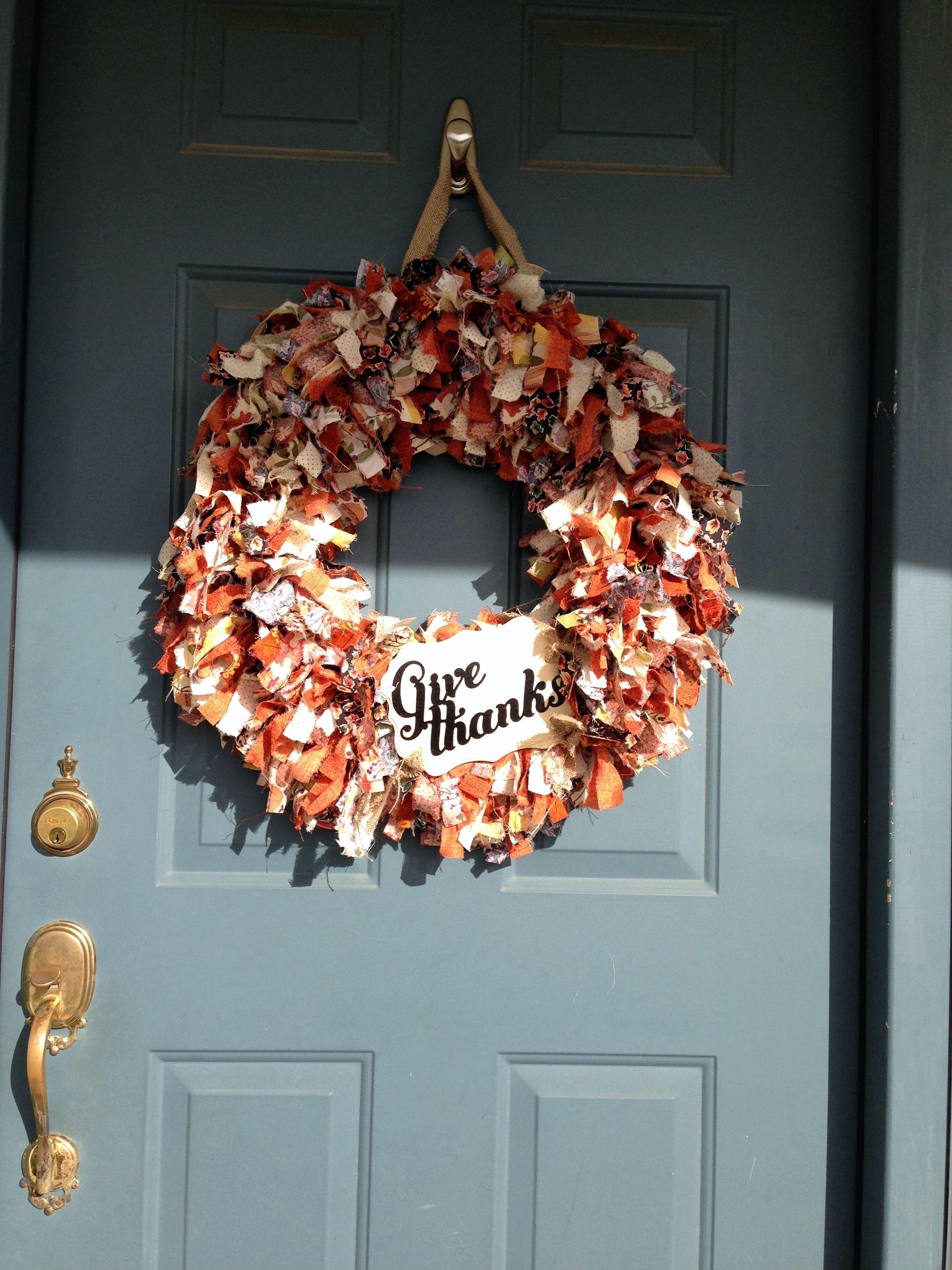 Autumn rag wreath. 18\