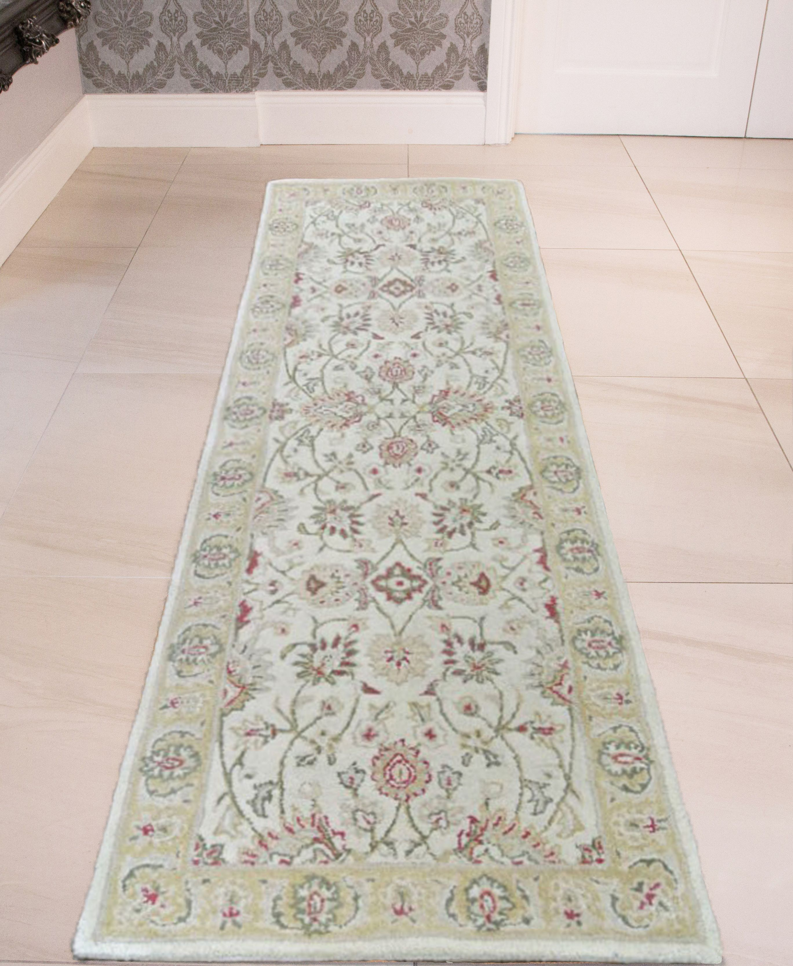 Accra Beige Persian Style Traditional Wool Runner Rug On Sale In The UK  Along With Best Prices On Many Other Flooring Goods.