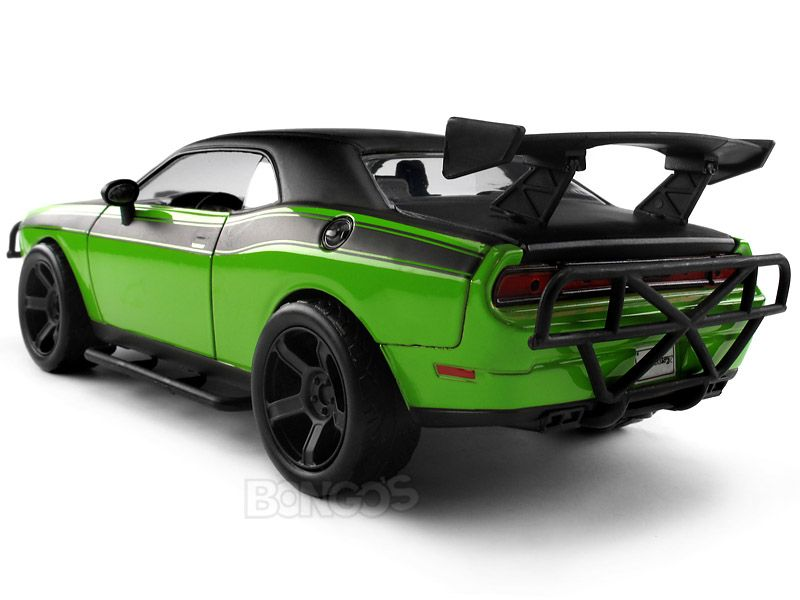 fast furious letty 39 s dodge challenger srt8 1 24 scale jada diecast model green. Black Bedroom Furniture Sets. Home Design Ideas