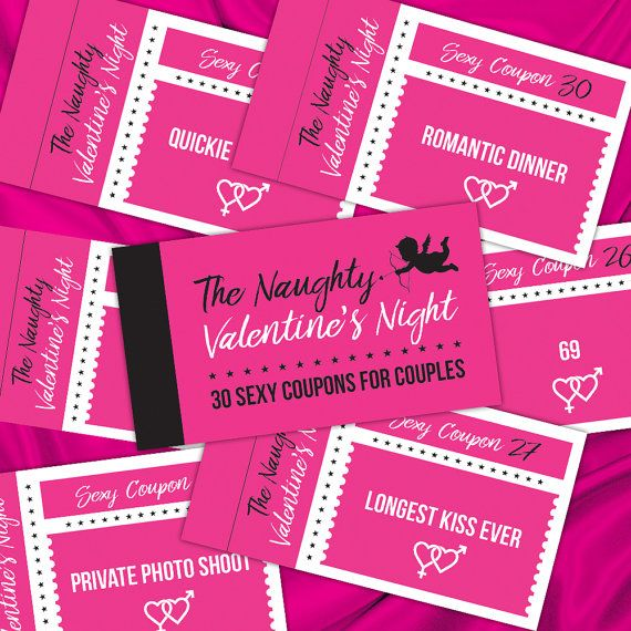 the naughty valentines night 30 coupons printable woman men gift sexy coupon book instant - Naughty Valentines Gifts