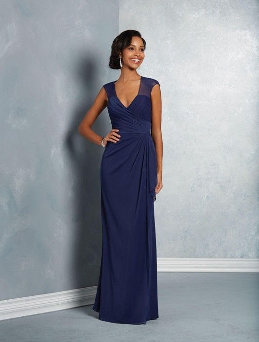 77222d7e71d Size 8 Twilight Alfred Angelo 7412 Sheer Cap Sleeve Bridesmaid Dress ...