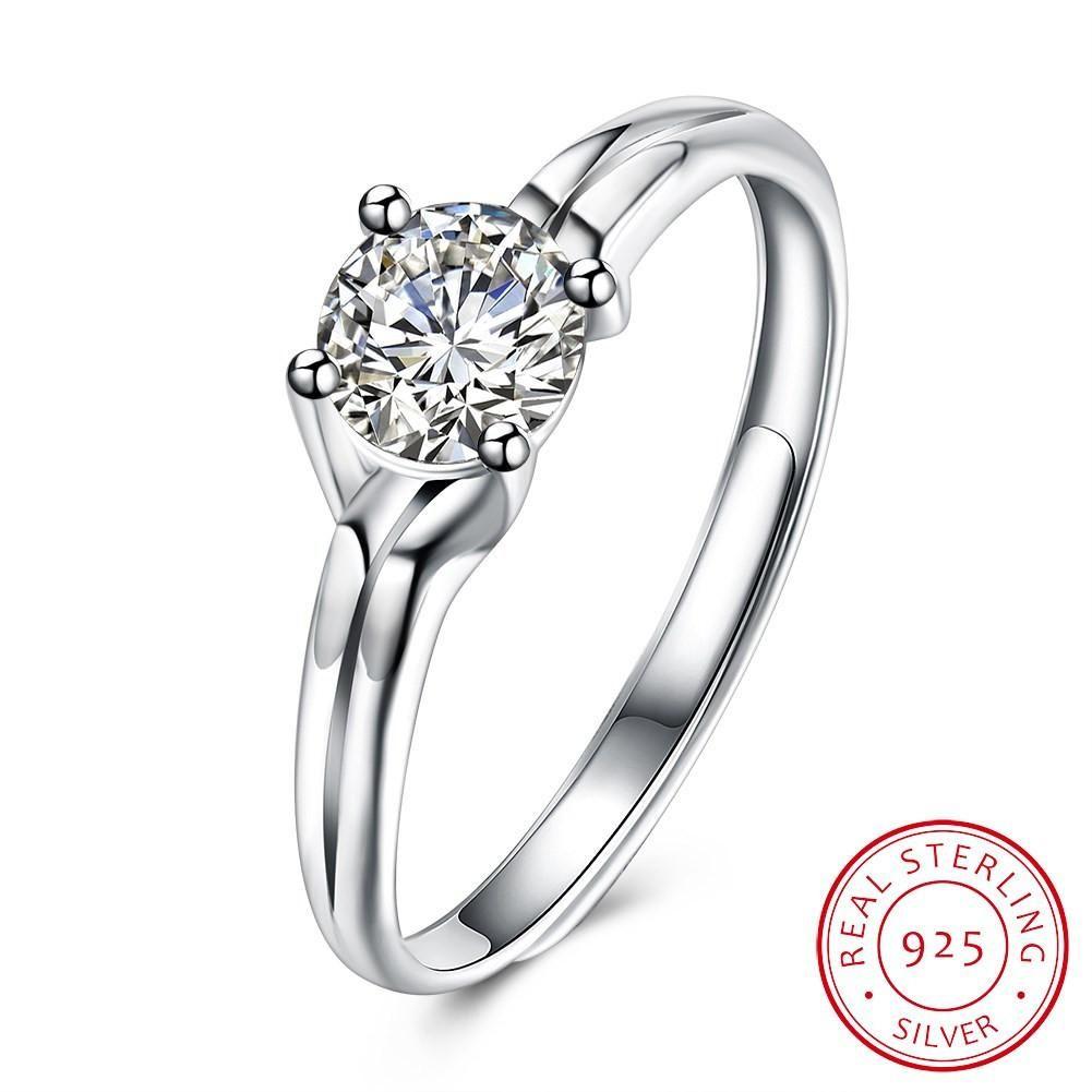 6e50854c7e69f 925 Sterling Silver Ring Fashion trend ring Korean romantic ...