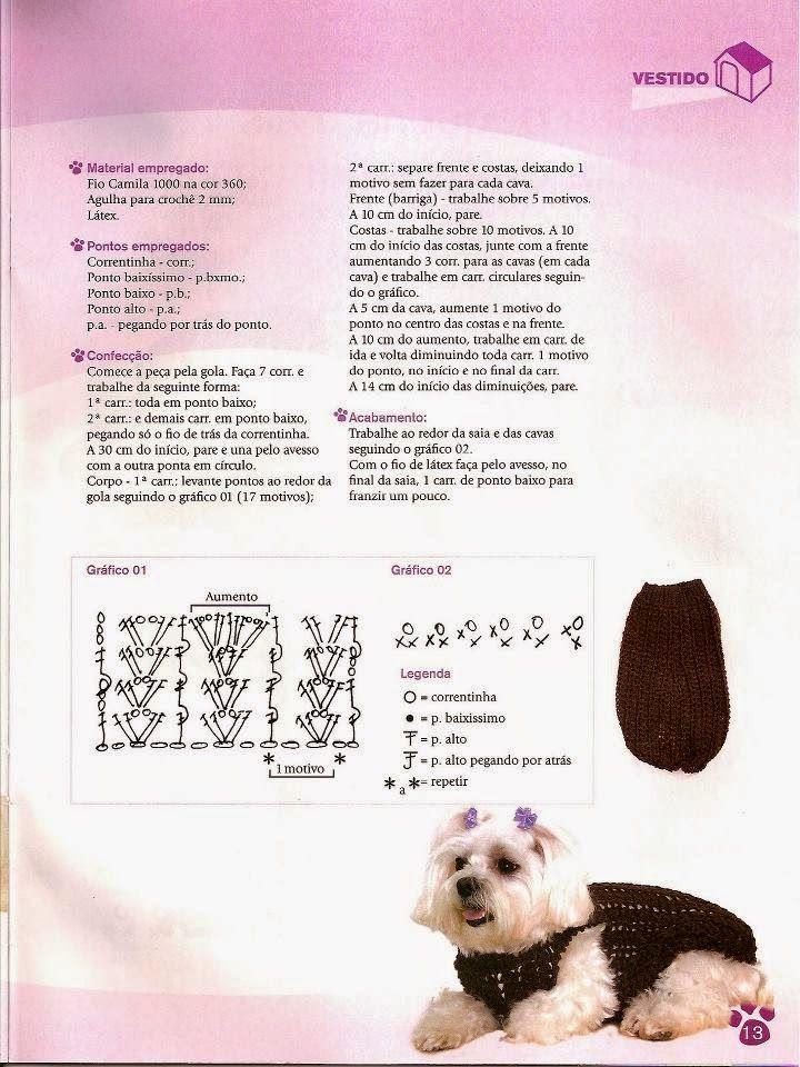 Croche e Pontos: roupas pet 8/5/15   Marita tejidos ropa   Pinterest ...