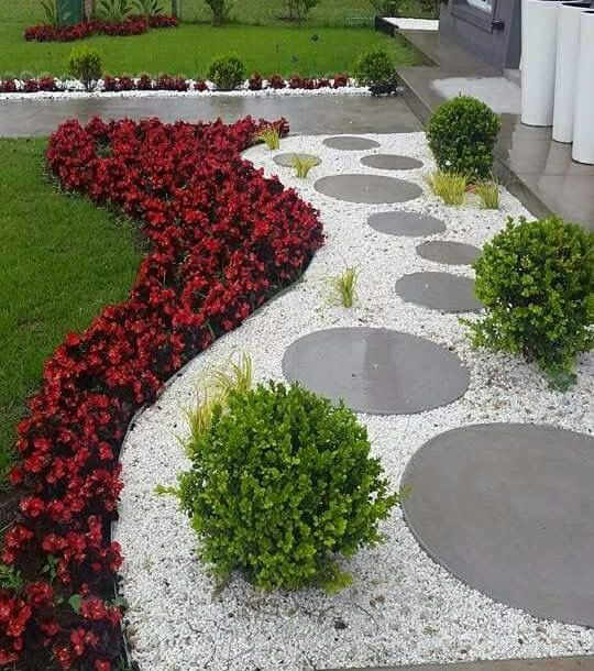 Pin By Abdoulaye Sambou On Jardin Rock Garden Landscaping Small Garden Landscape Front Yard Landscaping Design