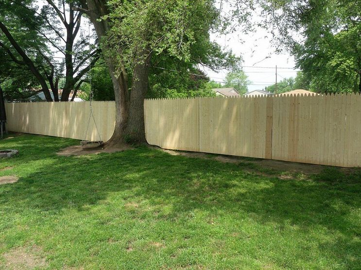 New Privacy Fence | Backyard fences, Fence design, Fence ...