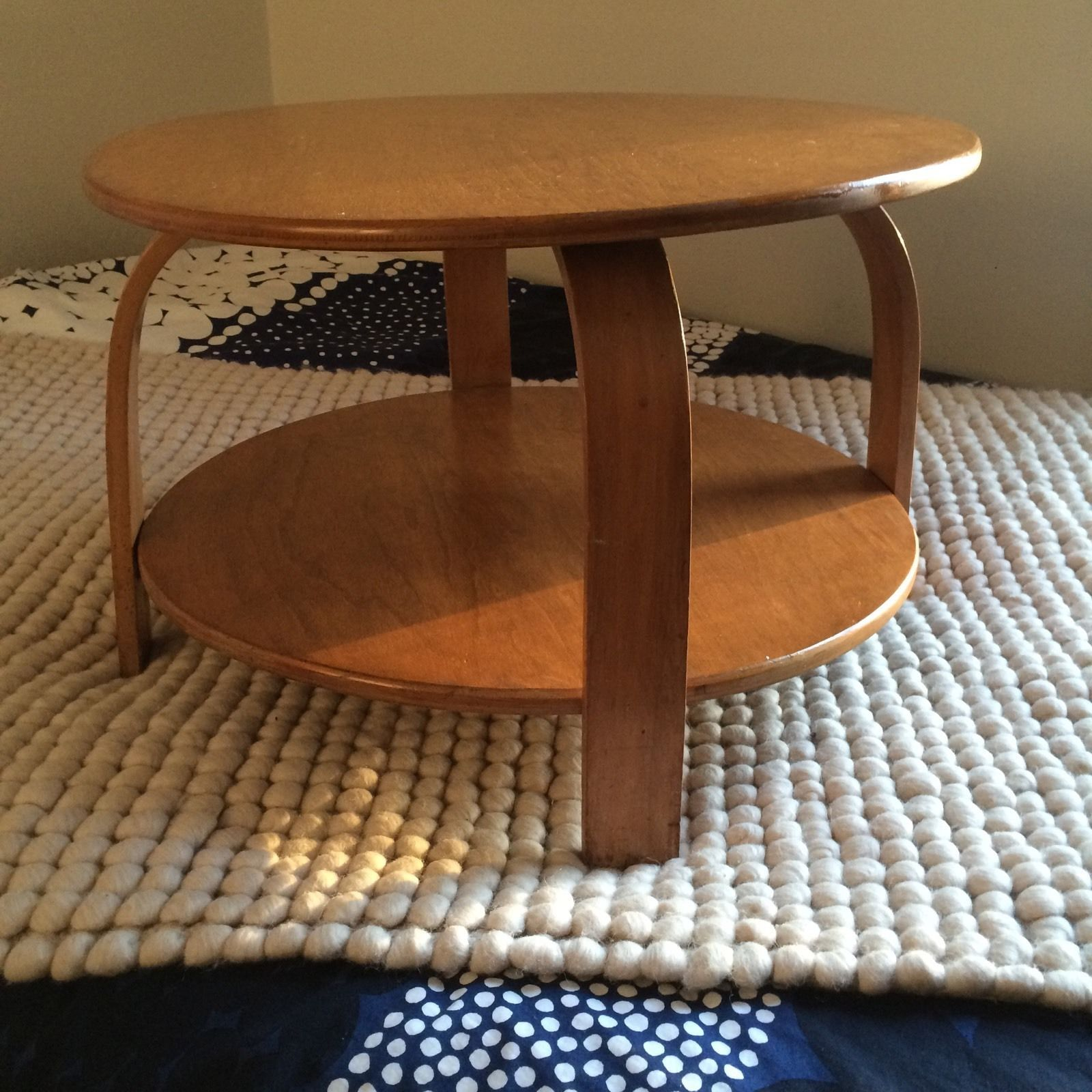 Mid Century Modern Heywood Wakefield Round Side Table Eames Russel