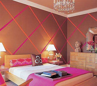 orange and pink rooms | The Pink House | www.decoresource.com