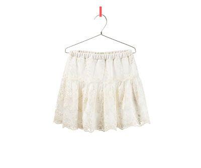 Imagen 1 de FALDA CON TUL de Zara   MiniStyles I like   Pinterest