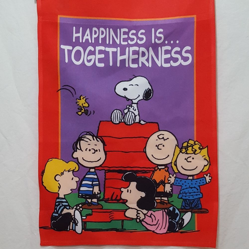 Peanuts Garden Flag Yard 2015 Size 12 X 17 Happiness Is Togetherness Peanuts Small Garden Flags Snoopy Peanuts Gang