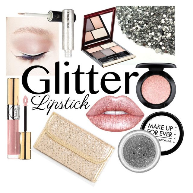 """""""Untitled #126"""" by nasalinhaler ❤ liked on Polyvore featuring beauty, MAKE UP FOR EVER, Lime Crime, Yves Saint Laurent, MAC Cosmetics, Kevyn Aucoin, Ashley Stewart and glitterlips"""