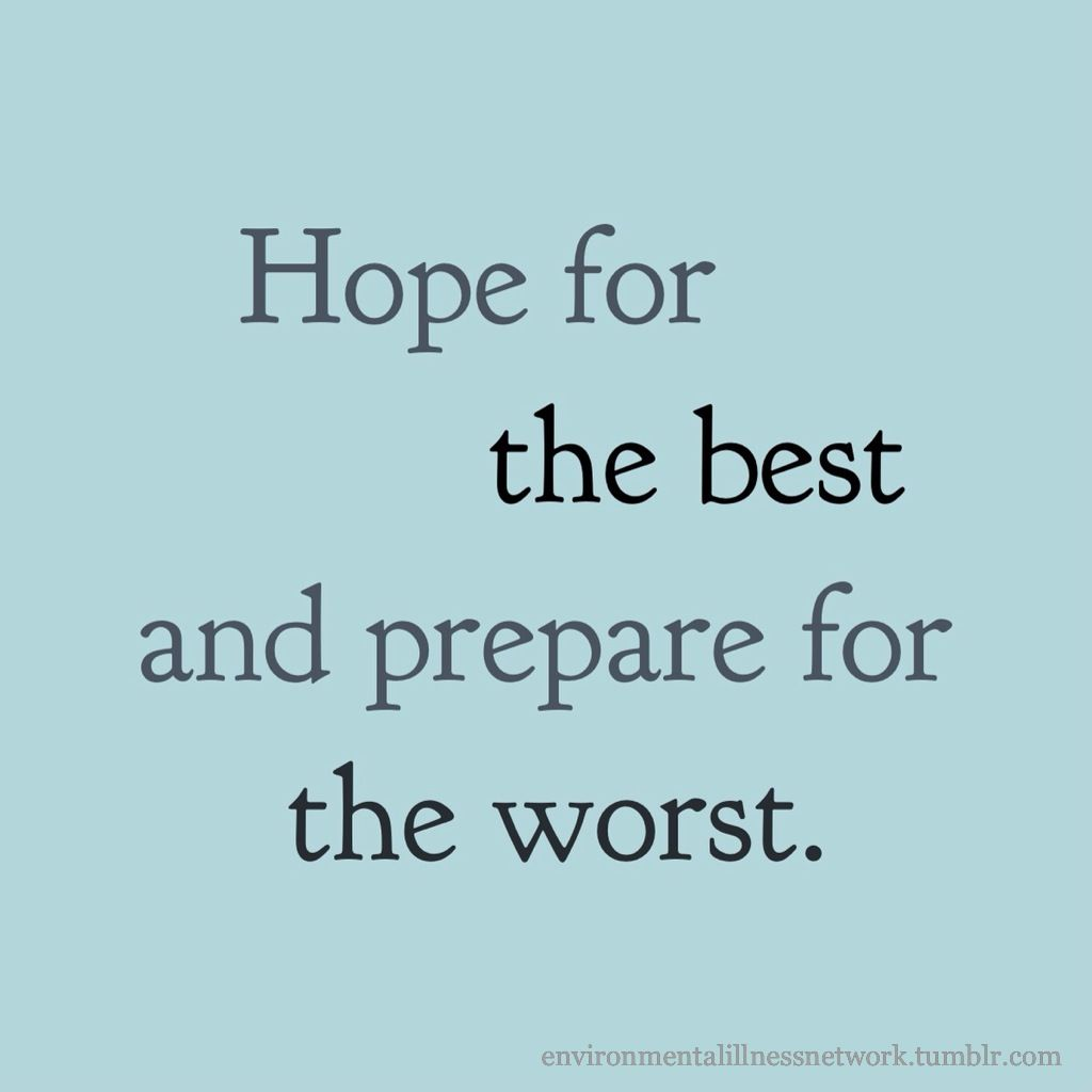 Hope For The Best And Prepare For The Worst Proverb Words