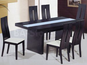 Frosted Glass Dining Table Athomeusa Modern Kitchen Tables Wood Dining Table Modern Modern Dining Table