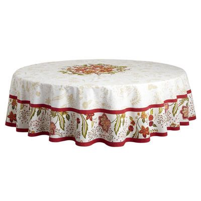Wonderful Floral Embroidered Tablecloths   Round Pier 1 Imports