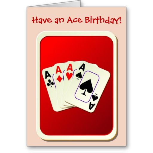 Happy Birthday Bridge Card Playing Cards Poker Birthday Cards