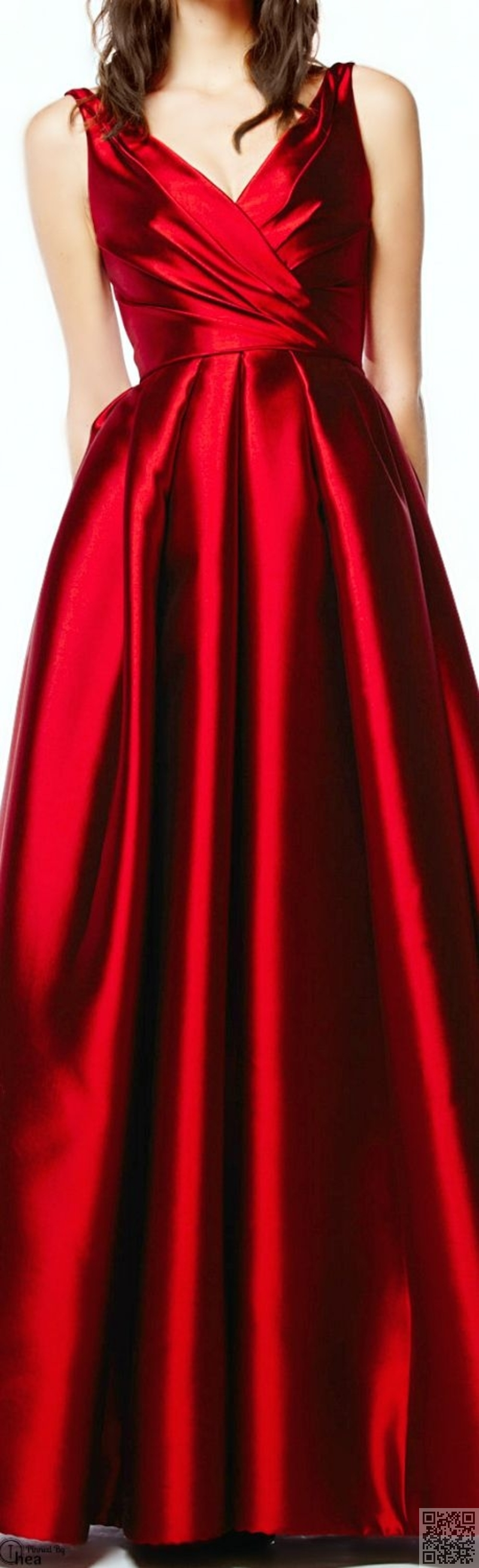 Shiny Material Red Dress Red Fashion Gorgeous Dresses [ 2616 x 800 Pixel ]