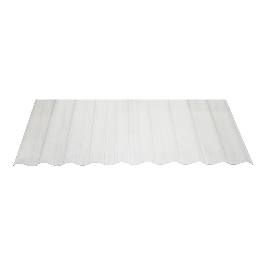 Tuftex Seacoaster 2 2 Ft X 8 Ft Corrugated Clear Pvc Plastic Roof Panel Lowes Com Roof Panels Plastic Roof Tiles Corrugated Plastic