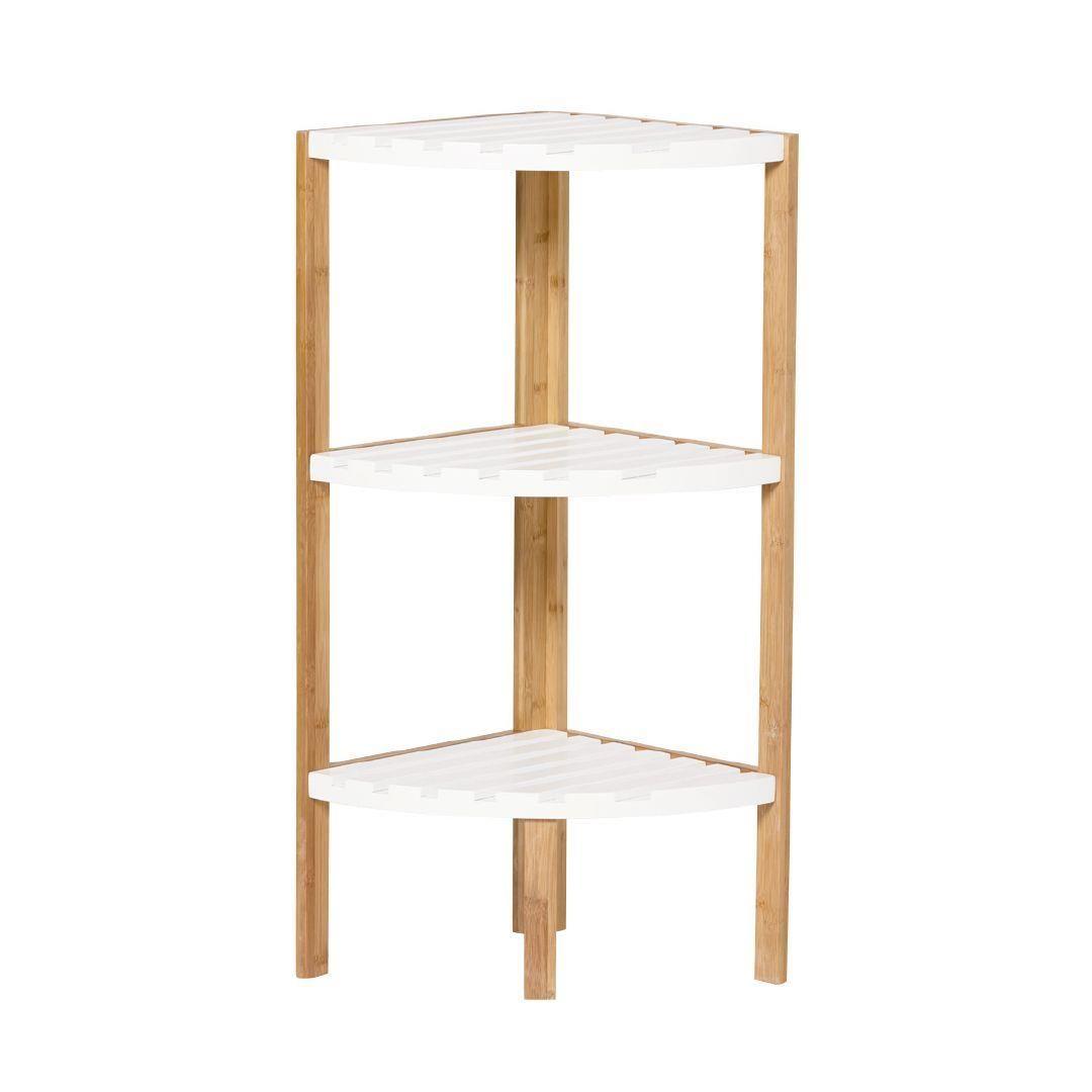 Sort It Bamboo Corner Shelf 3 Tier Corner Shelves Shelves