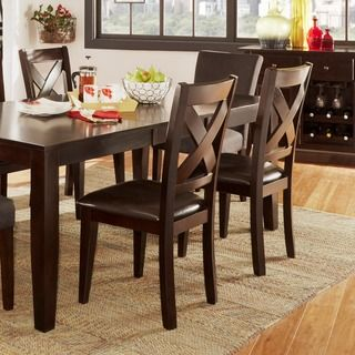 Rosi Black Leather Dining Chairs Set Of 6