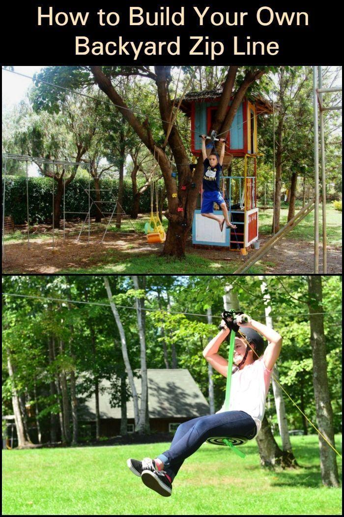 How to Build Your Own Backyard Zip Line , #Backyard #Build ...