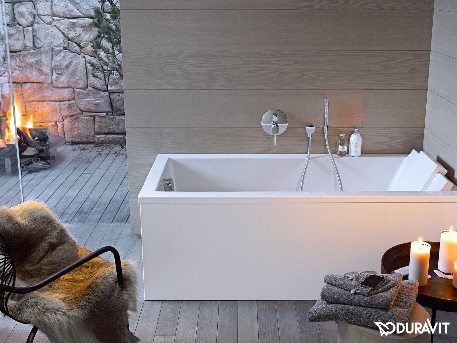 Badezimmer Wanne ~ Duravit starck die formschöne rechteck badewanne zeigt klare