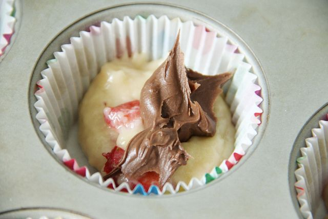 strawberry muffins w/ nutella | Sweets to try! | Pinterest | See best ...