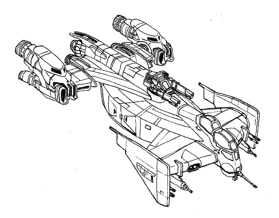 how to draw sci fi ships