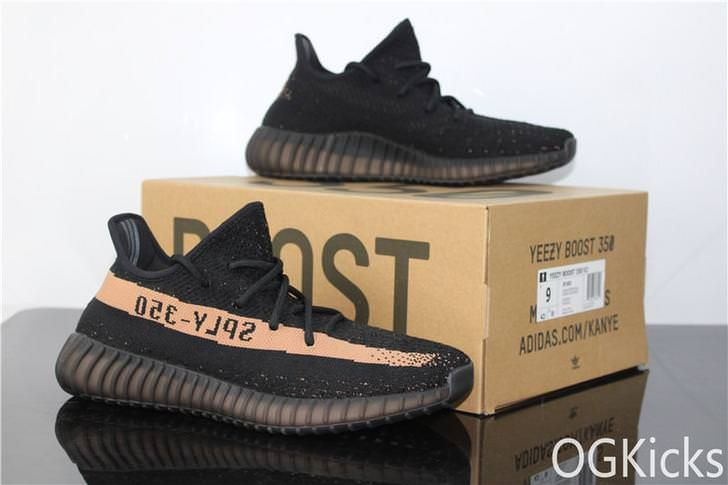 18d666180 OG 2018 New Update Adidas Yeezy Boost 350 V2 Real Boost Black Copper from  ogkicks.net