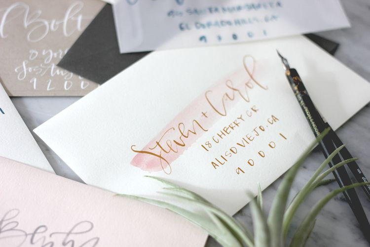 Tools for creating wedding envelopes   A Fabulous Fete