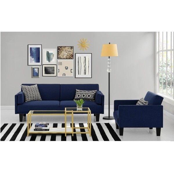 Dhp Metro Navy Blue Futon Sofa Bed Futon Living Room Futon Sofa Blue Futon