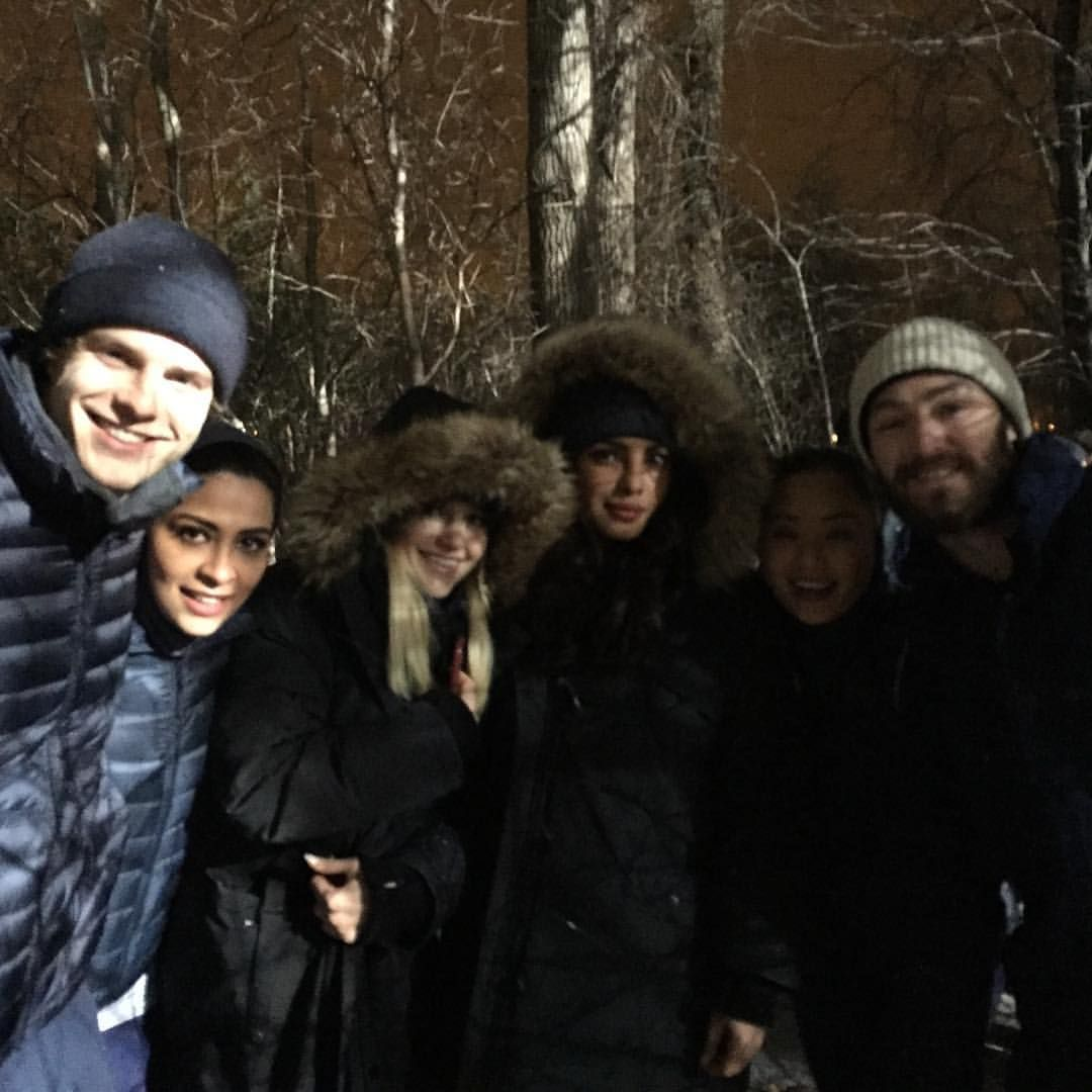 Last 2 episodes. Late night freezing outdoor shoot. #Quantico best cast ever.. @grahambamthankyoumam @jazmasri @thejohannabraddy @lijun_li n Jake