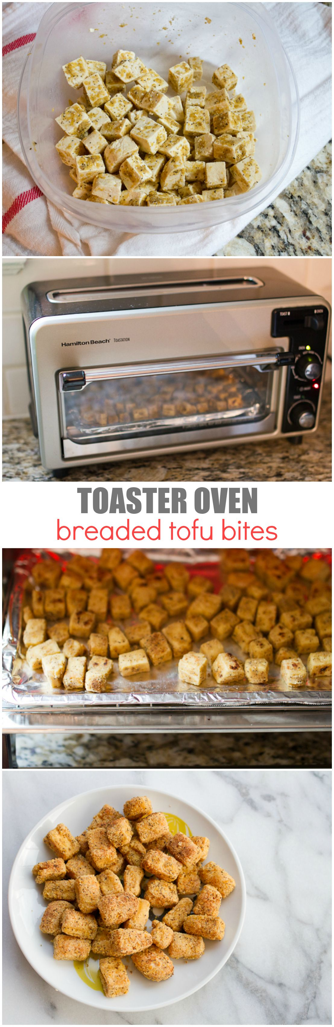 Toaster Oven Breaded Tofu Bites -- no marinating and only 20 ...