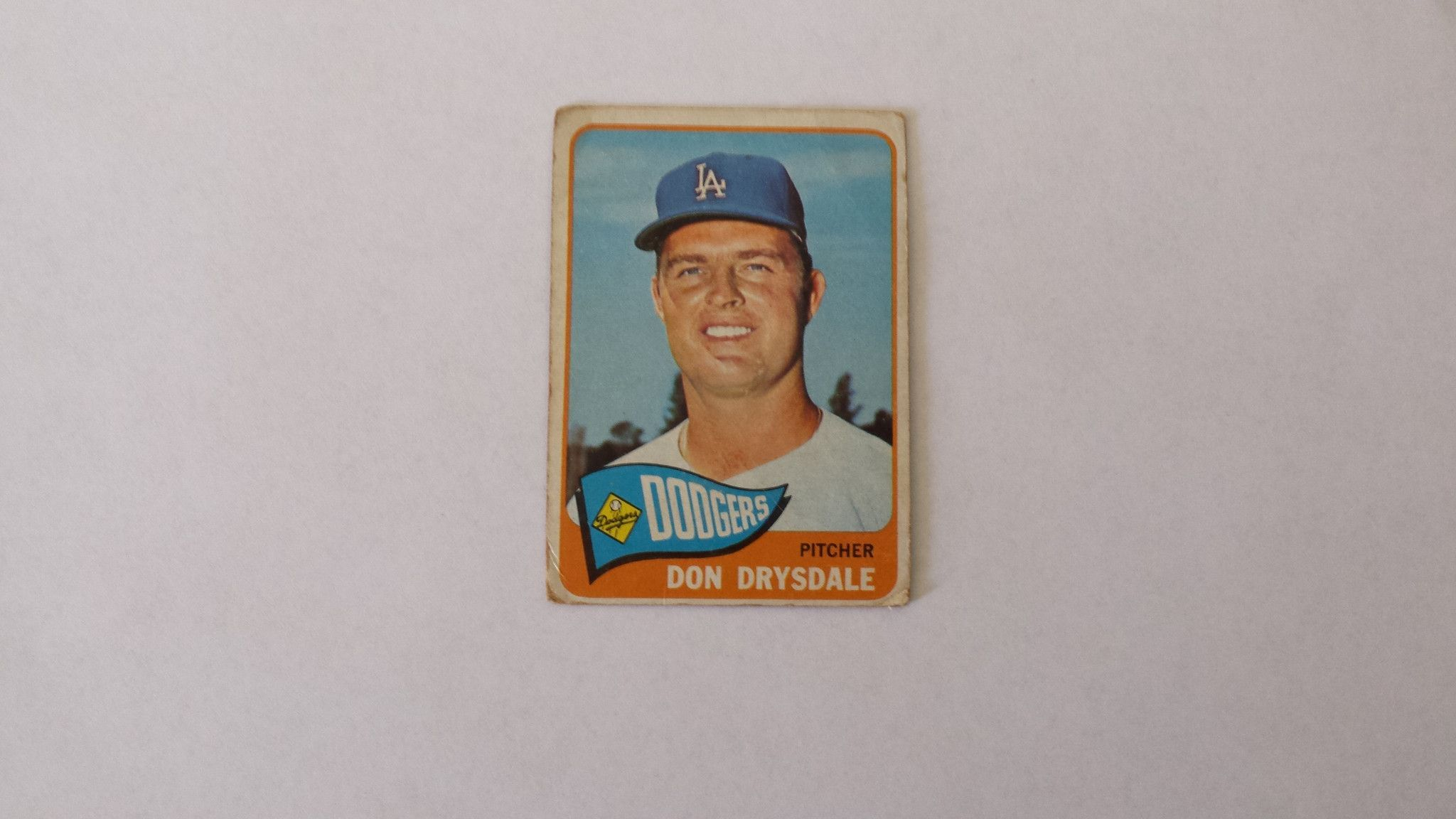 1965 Topps Los Angeles Dodgers Don Drysdale single baseball card