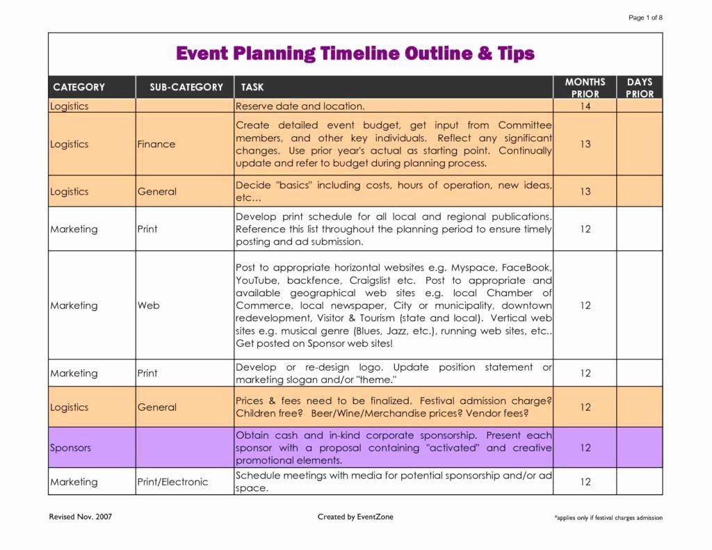 Event Planning Timeline Template Inspirational Event Planning Spreadsheet Template Even Event Planning Timeline Event Planning Spreadsheet Event Planning Guide Event planning template google docs