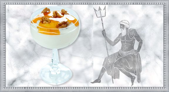 Sobremesa de iogurte grego, mel e nozes