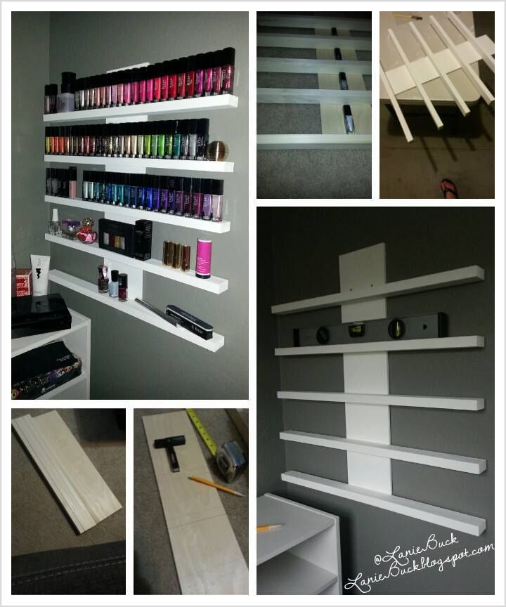 Diy Craft Polish Or Nik Nak Rack Home Nail Salon Nail Salon