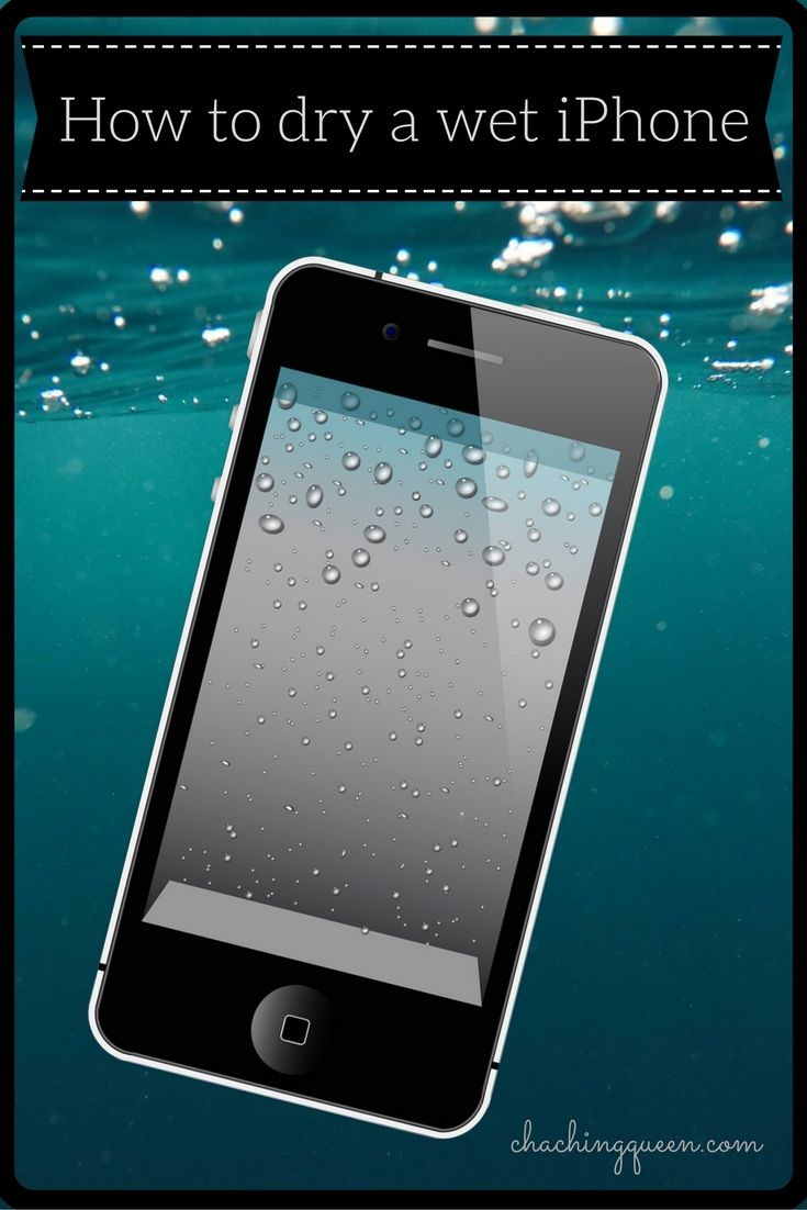 How to dry a wet iphone or save other smartphones from
