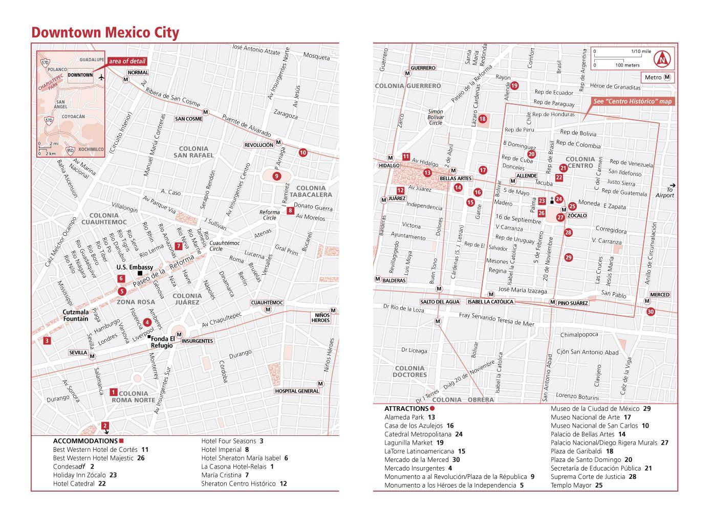 mexico city mexico tourist mapjpg 1395989