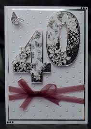 handmade birthday card ... big 40 cut and popped up ...