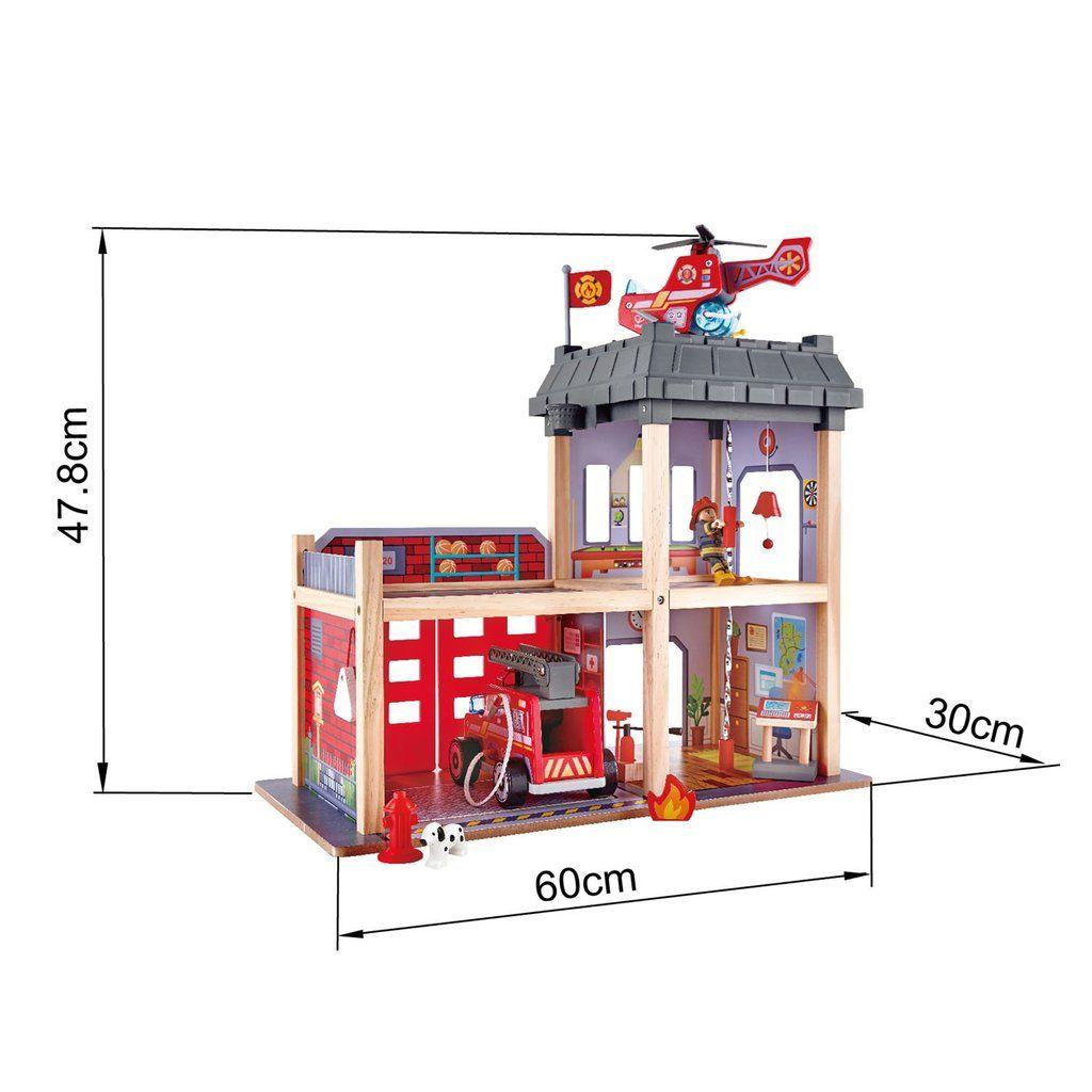 Hape Large Wooden Fire Station Kids Stuff Fire Fire Engine Toys