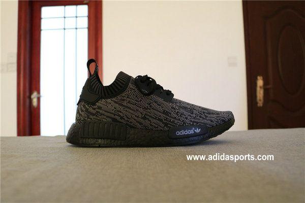 Adidas NMD_R1 Primeknit Pitch og Black [Adidas NMD Black