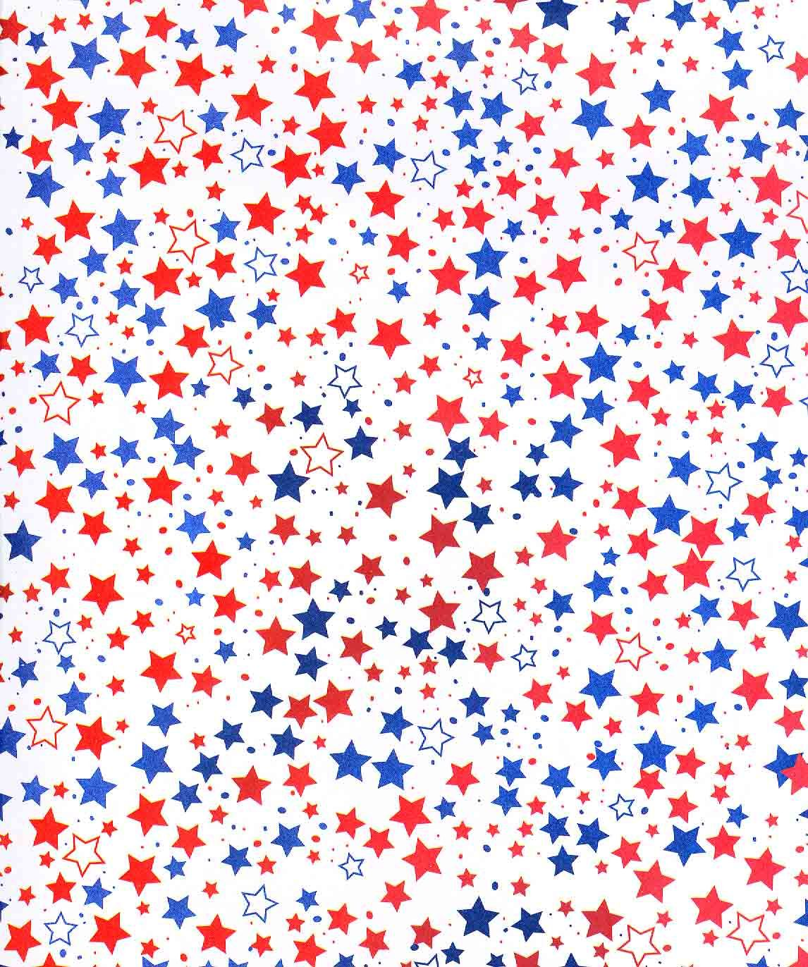 Patriotic July Fourth Of Red White Blue Stars Background