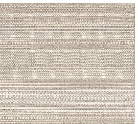 Parker Synthetic Indoor Outdoor Rug Bleached With